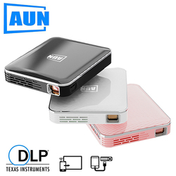 AUN MINI Projector X3, Built in Multimedia system Video Beamer, Support Mobile Phone Screen Mirroring, 3D Projector for 1080P