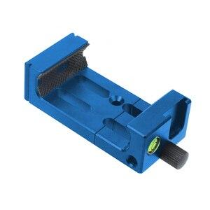 Image 4 - XJ 8 tripé do telefone suporte de cabeça montagem do tripé suporte do telefone móvel clipe para o telefone lanterna microfone com nível espírito