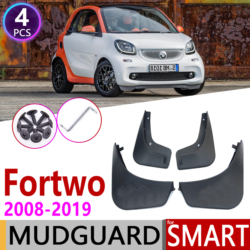 Mudflap for <font><b>Smart</b></font> <font><b>Fortwo</b></font> W451 <font><b>451</b></font> W453 453 2008~2019 Fender Mud Guard Flaps Mudguards <font><b>Accessories</b></font> 2009 2010 2011 2015 2016 2018 image