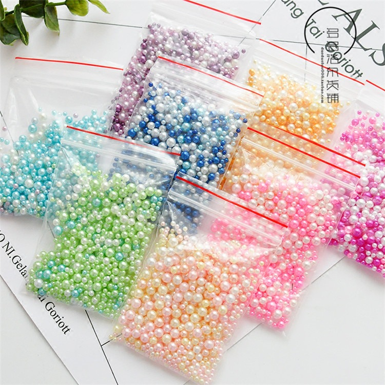 Jewelry Mermaid-Beads Resin-Accessories Pearls Fillings Without-Holes Gradient 9g/Pack title=