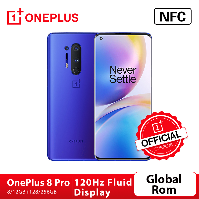 Global Rom Oneplus 8 Pro 5G Smartphone Snapdragon 865 8G 128G 6.87'' 120Hz Fluid Display 48MP Quad 513PPI 30W Wireless Charging Cellphones  - AliExpress