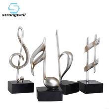 Strongwell Modern Music Symbol Decoration Retro Resin Sculpture Home Accessories Decor