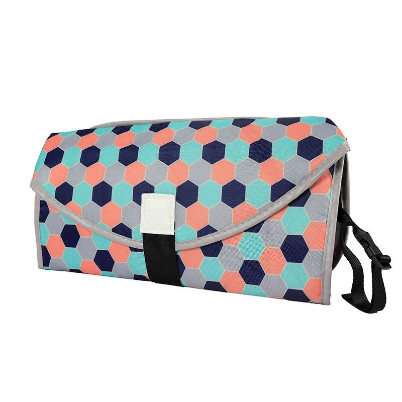 Новые 3 в 1 Водонепроницаемый пеленальный коврик пеленки мнчества, Портативный чехол для детских подгузников коврик чистой ручной складной сумка из узорчатой ткани - Цвет: CPD062