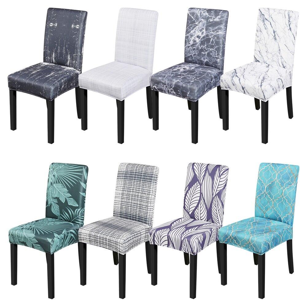 1/2/4/6 adet elastik yemek sandalye kılıfı streç Slipcovers sandalye koruyucu toz ev sandalyesi dekor ziyafet parti düğün