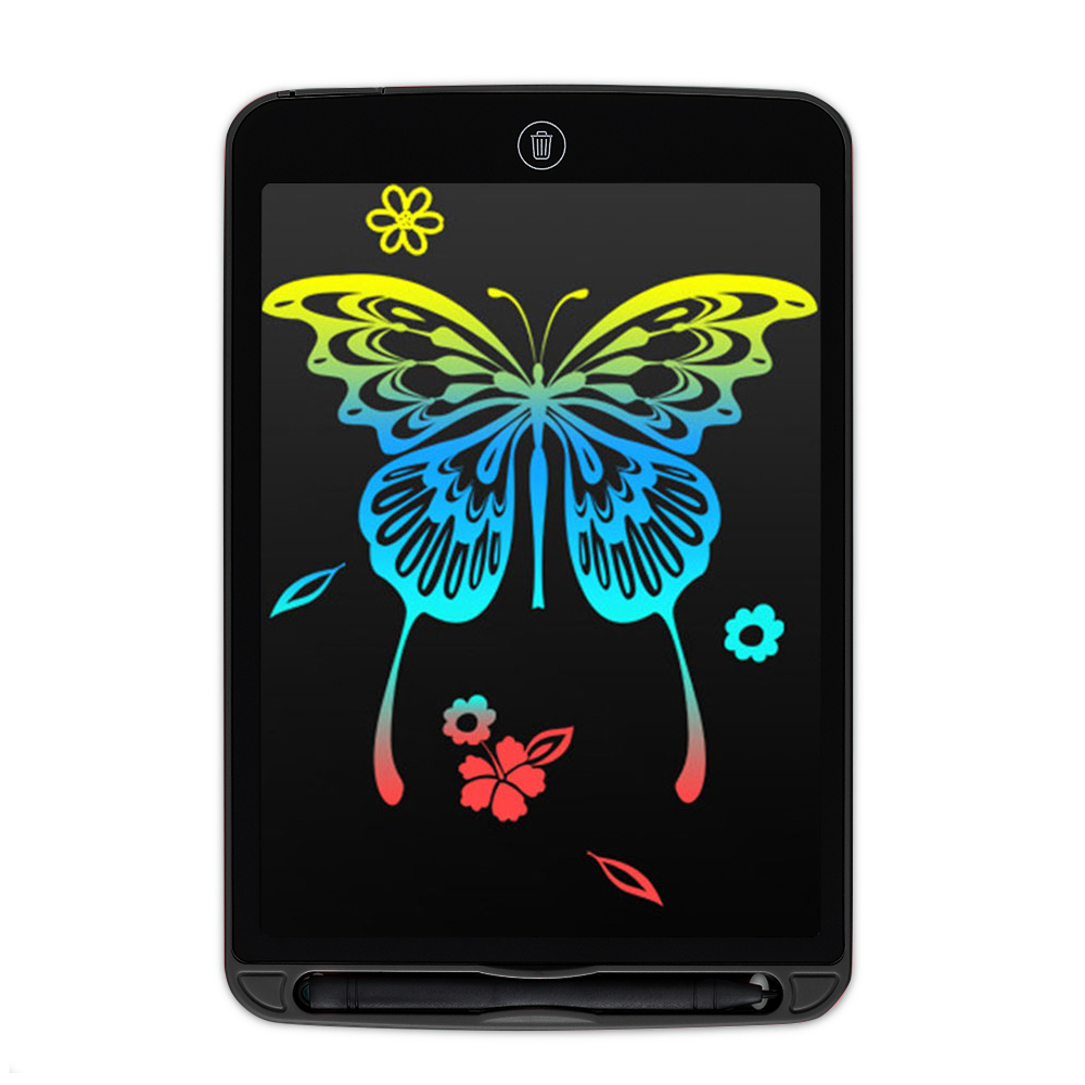 ЖК-планшет для письма 12 дюймов цифровой чертежный электронный блокнот для рукописного ввода доска для записей детская письменная доска подарки для детей - Цвет: Fillet black