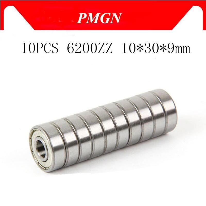 10pcs ABEC-5 6200ZZ 6200Z 6200 ZZ 6200-2z 10*30*9 mm Metal seal Miniature High quality deep groove b