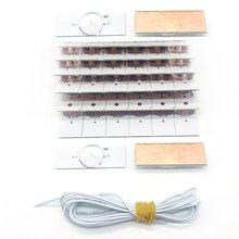 40PCS High Quality 3V SMD Lamp Lens with Optical Lens Fliter&Cable for 32-65 inch LED
