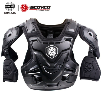 SCOYCO Motorcycle CE Armor Motocross Chest Back Protector MX Armour Vest Motorcycle Jacket Racing Protective Body Guard Armor