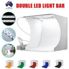 Fotoconic двойной мини лайтбокс светодиодный портативный фото свет для фотостудии палатка и 6 цветов фон