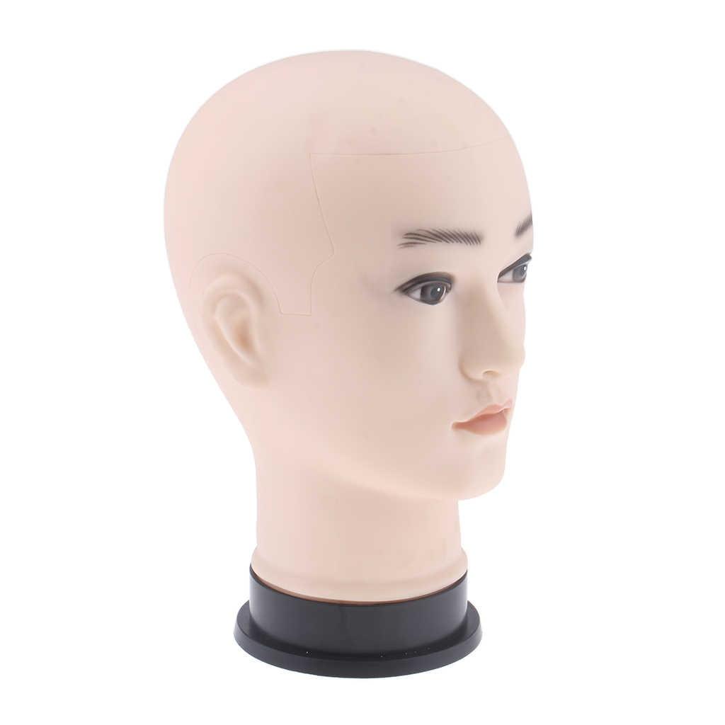 Cabeza de entrenamiento para práctica, cabeza de maniquí para cosmetología, muñeca realista, cara para pintura facial, masaje, entrenamiento práctica