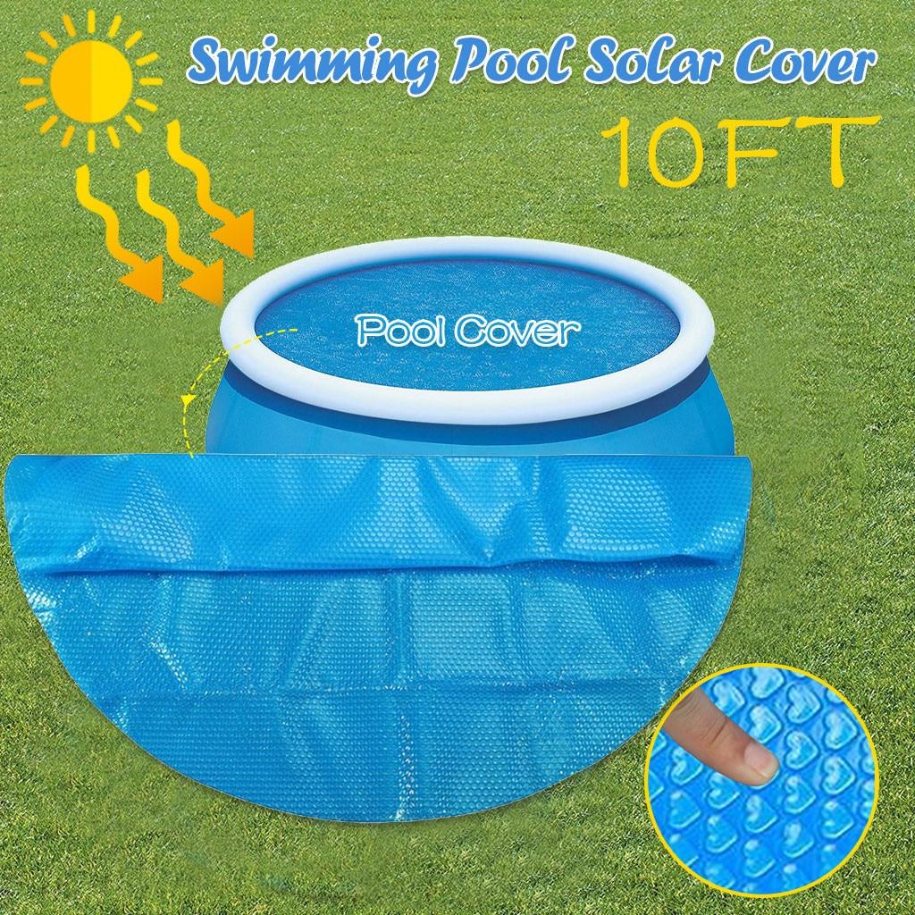 Capa de Piscina para Cobertura de Piscina Acima do Solo Capa de Piscina Solar Protetor Azul Proteção pé