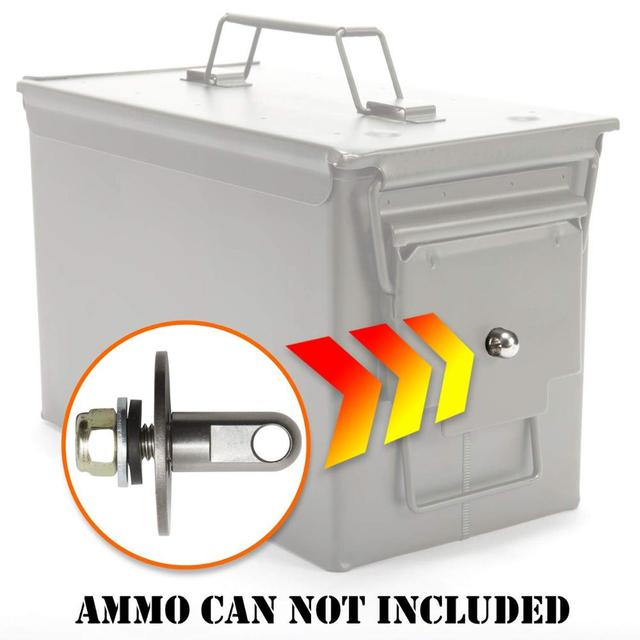 50 Cal Ammo can Steel Gun lock box Ammunition Gun safe box Military Army lockable case 40mm Pistol Bullet Valuables Storage