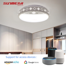 Modern APP Dimmable Ceiling Lights For Living room Bedroom Kids room LED Ceiling Lamp Fixtures With Bluetooth plafones techo цены