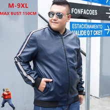 Leather Jackets Men Black Windbreaker Casual Bomber Autumn W