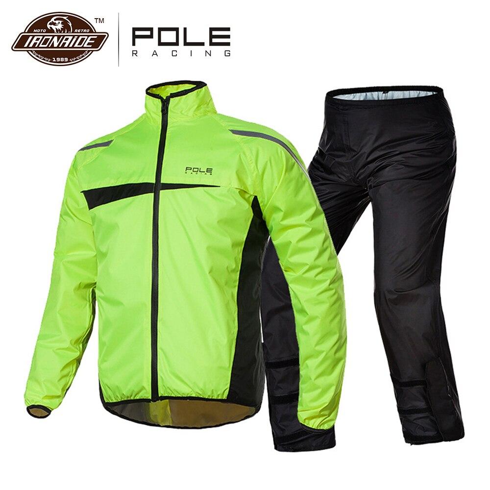 Waterproof Motorcycle Raincoat +Rain Pants Poncho Motorcycle Rain Suit Moto Rain Jacket Riding Motorbike Rain Coat