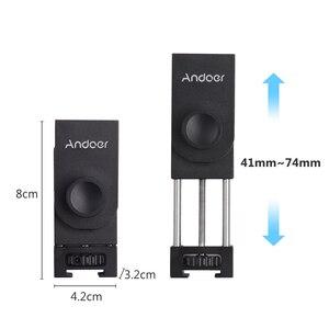 Image 2 - Andoer Metal telefon tutucu tripod mesnet adaptörü soğuk ayakkabı montaj mikrofon LED Video ışığı aksesuarları Smartphone için