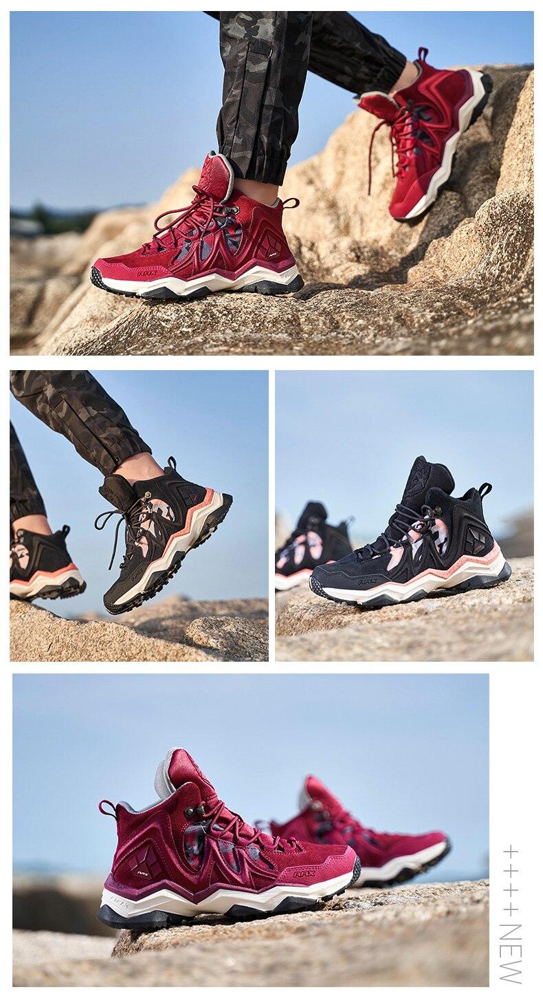 couro botas trekking trail campismo escalada caça tênis mulher