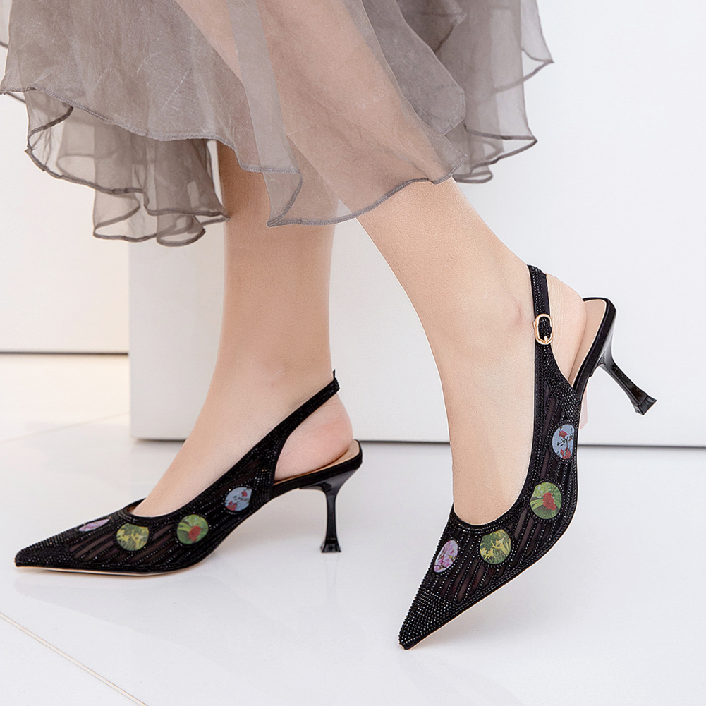 Karinluna New Brand Design Hollow Slingback Lady Fetish High Heels Pointed Toe Party Summer Women Shoes Sandals Woman
