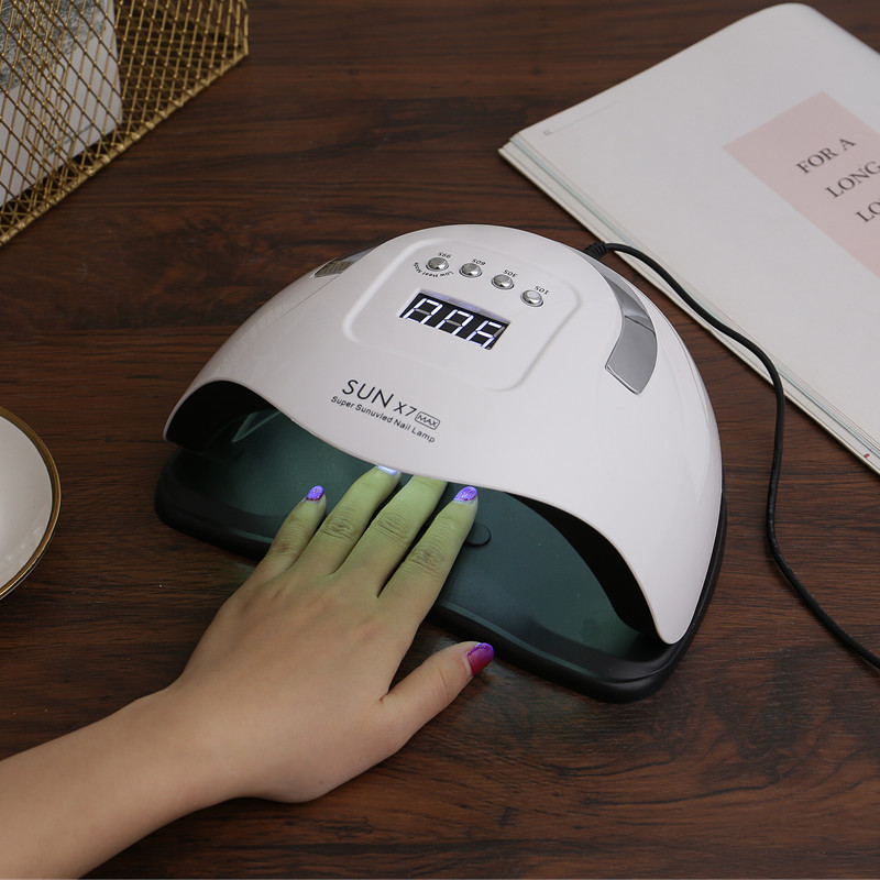 Высокая Мощность солнце X7 MAX УФ-светодиодный светильник быстросохнущая лампа для Гель-лак для ногтей, осушающая лампа Смарт Сенсор набор ин...