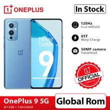 Küresel Rom OnePlus 9 5G Snapdragon 888 8GB 128GB Smartphone 6.5 ''120Hz sıvı AMOLED ekran hasselblad OnePlus resmi mağaza