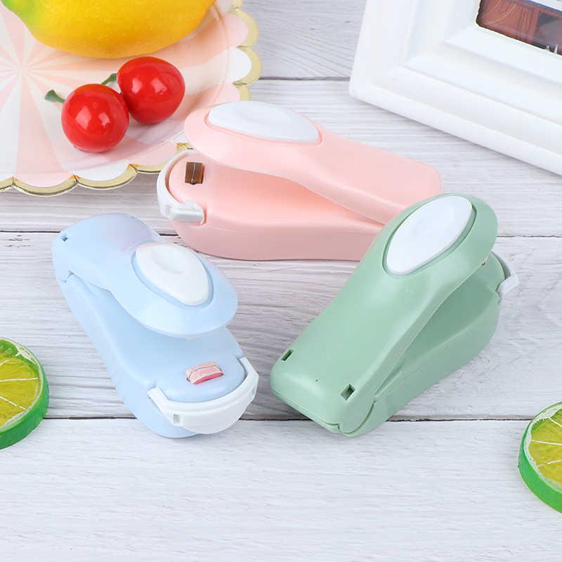 1 pçs portátil mini máquina de vedação do agregado familiar aferidor do vácuo de alimentos aferidor do calor capper alimentos saver para sacos de plástico mini gadget