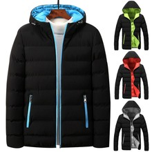 Winter Parka Jacket Men 2019 Fashion Hooded Thick Padded Jackets Zipper Coats Man Winter Male Outerwear Parkas M-4XL цена в Москве и Питере