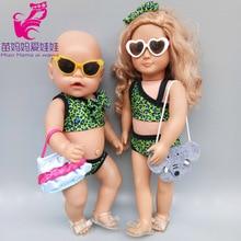 18inch Girl Doll Swim Clothes For 43cm New Born Baby Doll Bikini Accessories