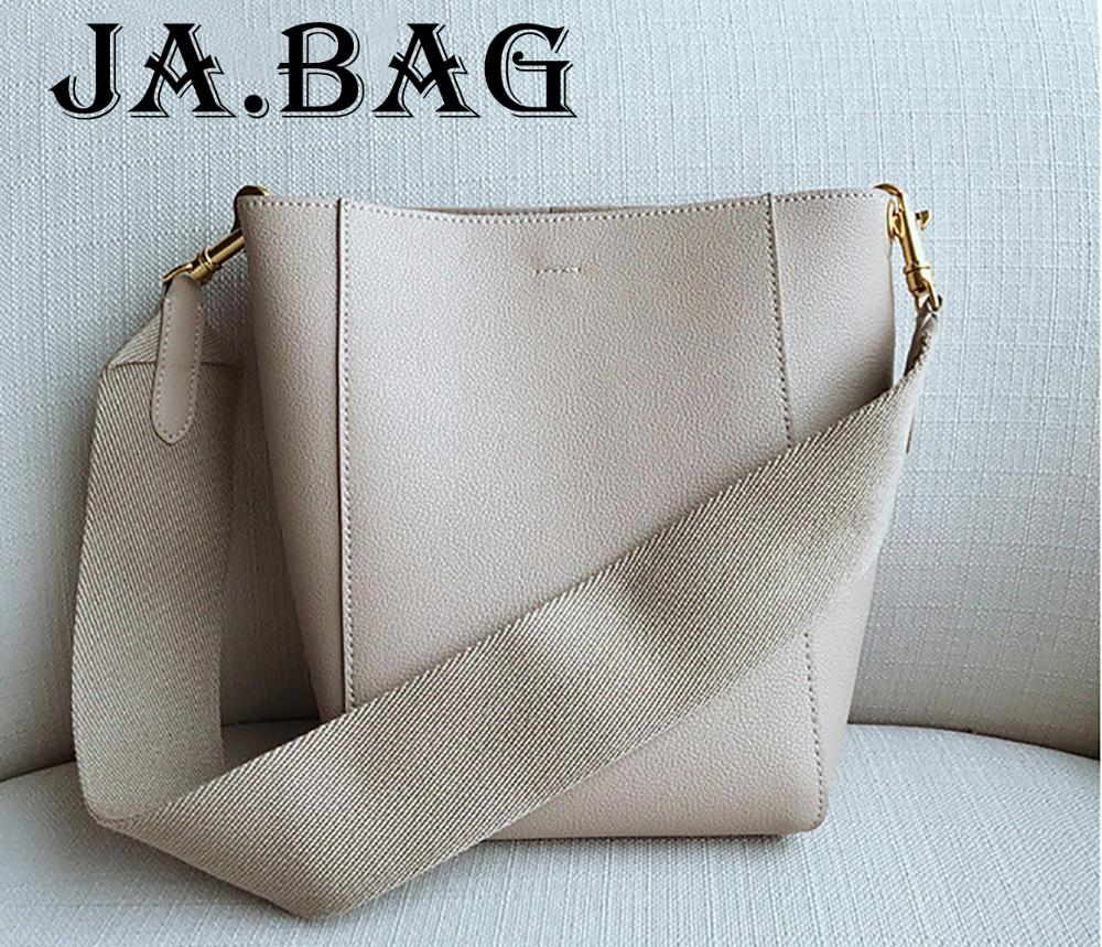 Fsahion Genuine Leather Buckle Bucket Handbags Crossbody Bag For Women,2019 Ladies Leisure Shoulder Bags Purse Messenger Bags