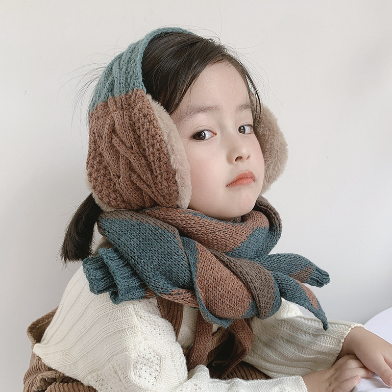 2019 Winter Warm Earmuffs For Kids Dual Use Scarf Earflap Winter Autumn Warm Plush Ear Muffs Cute Warm Earmuffs Gift Child