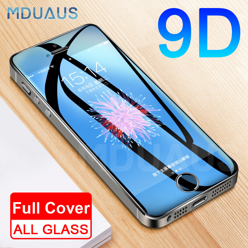 9D Protective Glass On The For IPhone 5S 5 5C SE Tempered Screen Protector Safety Glass For Apple IPhone 5S SE 4 Protection Film