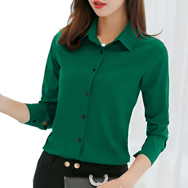 Autumn Blouse Office Lady Slim Pink Shirts Female Blusas Spring Women Blouses Leisure Long Sleeve Plus Size Tops Casual Shirt 1