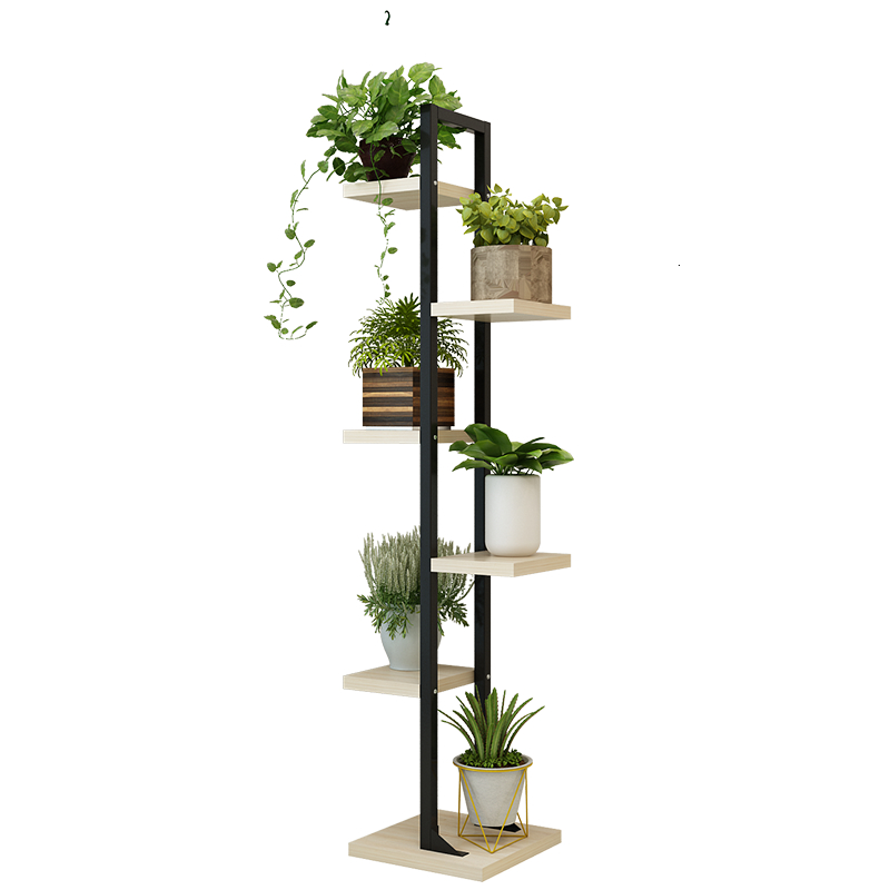 A Shavings Narrow Shelf Iron Art Multi-storey Indoor Many Function Meaty Green Luo To Ground Flower Airs Bedroom Flower Rack