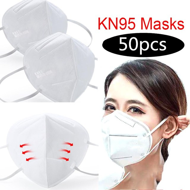 50PCS N95 Mask Flu Anti Infection KN95 Masks Particulate Respirator PM2.5 Protective Safety Same as KF94 FFP2
