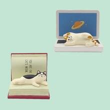 Soporte de teléfono para gatos, marco de gafas, regalo, pequeños adornos