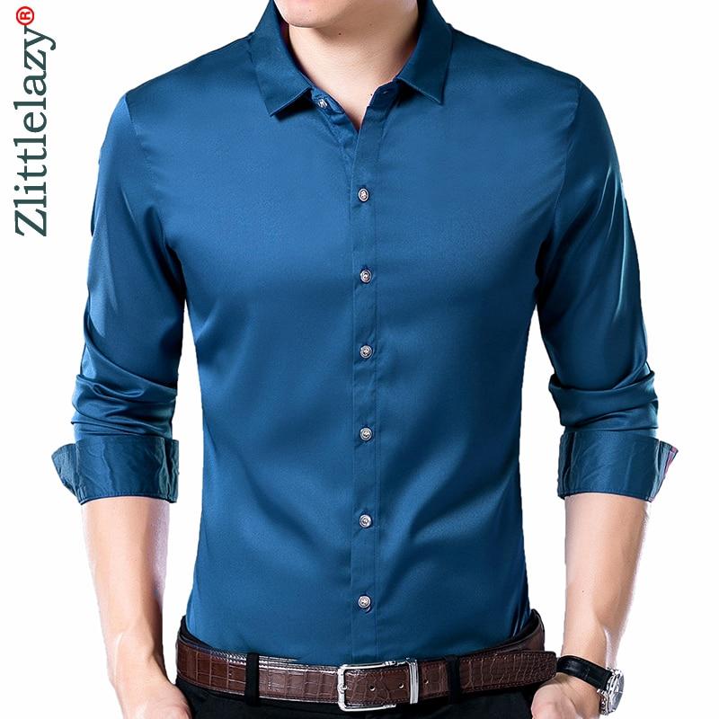 2020 brand long sleeve men social shirt spring streetwear casual solid shirts dress mens slim regular fit clothes fashions 0104