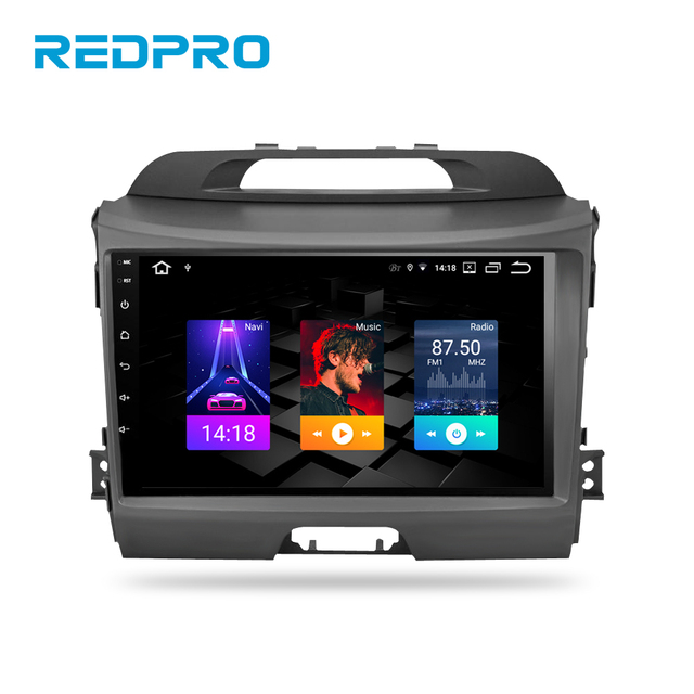 4G RAM IPS 화면 안드로이드 9.0 자동차 스테레오 기아 Sportage 2009 2015 자동차 DVD 플레이어 자동 라디오 FM 와이파이 멀티미디어 GPS 네비게이션