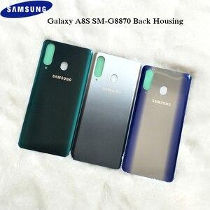 Image 1 - Originele Samsung Galaxy A8s 3Dglass Batterij Back Cover Deur Behuizing Vervanging Reparatie Bescherming Case Voor Samsung A8S SM G8870