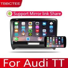 2din Auto Multimedia Android Autoradio Autoradio Gps Speler Voor Audi Tt 2006 ~ 2014 Bluetooth Wifi Spiegel Link Navi