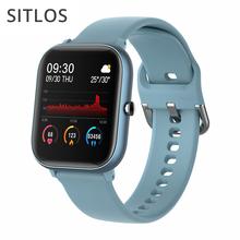 SITLOS 2020 P8 SE 1 4 Cal Smartwatch mężczyźni w pełni dotykowy tryb multi-sport z inteligentnym zegarem kobiety pulsometr dla iOS Android tanie tanio CN (pochodzenie) Brak Na nadgarstku Wszystko kompatybilny 128 MB Passometer Fitness tracker Uśpienia tracker Wiadomość przypomnienie