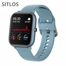 Sitlos 2020 p8 se 1.4 Polegada smartwatch masculino toque completo multi-modo esporte com relógio inteligente monitor de freqüência cardíaca feminino para ios android