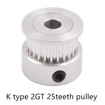 GT2 Timing Pulley 25 teeth Bore 4mm 5mm 6mm 6.35mm 8mm for width 2GT Synchronous Belt Small backlash 25Teeth image