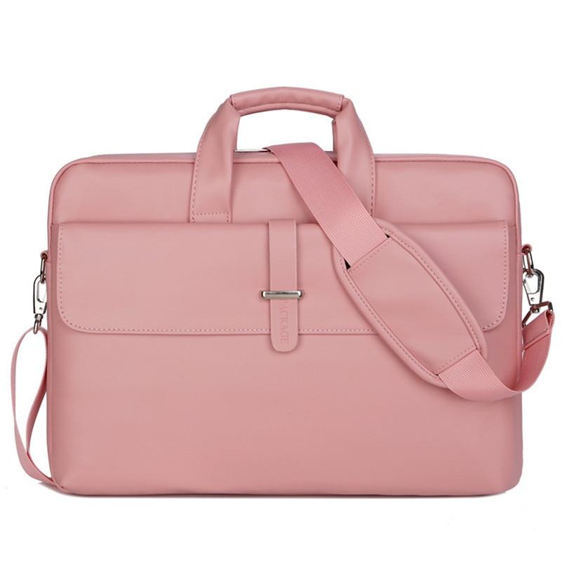 Fashion Business Briefcase Women PU Leather Portable Computer Handbag Document Breifcase Bag Laptop Messenger Shoulder Bag