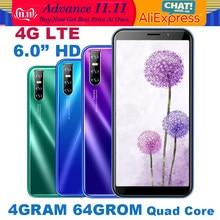 Note9 pro 64g rom smartphones 4g lte 4g ram quad core android telefone celular 13mp hd câmera 6.0