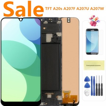 Original LCD For SAMSUNG Galaxy A20s A207 A2070 SM-A207F LCD Display Screen Digitizer Assembly Repacement Parts For A20S original 10 1 lcd matrix b101aw03 v 0 ltn101nt02 ltn101nt06 lp101wsa tl a1 m101nwt2 r2 hsd101pfw2 for samsung notebook screen