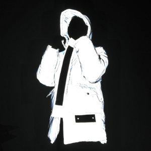 Image 2 - Chaqueta ligera reflectante para mujer, abrigo de algodón con capucha para la calle de invierno, para correr, seguro, reflectante, cálido, Unisex, para hombre, Parkas