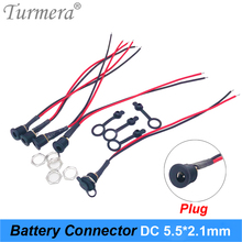 Turmera Battery DC Power Plug Connector for Diy DC waterproof Jack Connector DC022B 5.5 X 2.1mm for Screwdriver Battery Pack Use