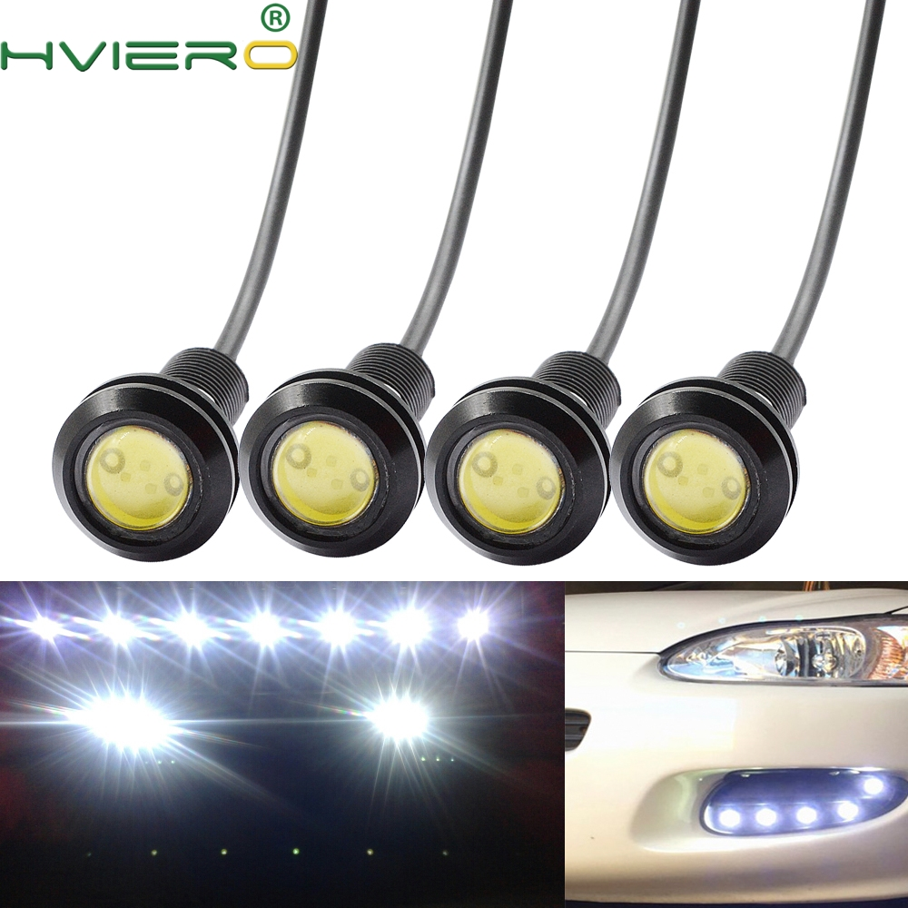 4X White Red Blue Yellow 9w DC 12V Led Eagle Eye Led Daytime Running Light Backup Auto Motor Parking Signal Lamps Waterproof