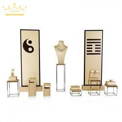 Schmuck Edelstahl Schmuck Ohrring Display Halskette Schaufenster Schmuck Display Rack Tai Chi Design