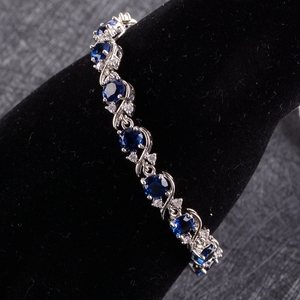 Image 3 - Blue Zircon Silver 925 งานแต่งงานชุดเครื่องประดับชุดจี้สร้อยคอแหวนกำไลต่างหูหินชุดของขวัญกล่อง