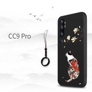 Image 2 - Xiaomi mi note 10 cc9 pro, mi9lite cc9, a3 cc9e 커버 카나가와 파도 잉어 크레인 3d 자이언트 릴리프 케이스